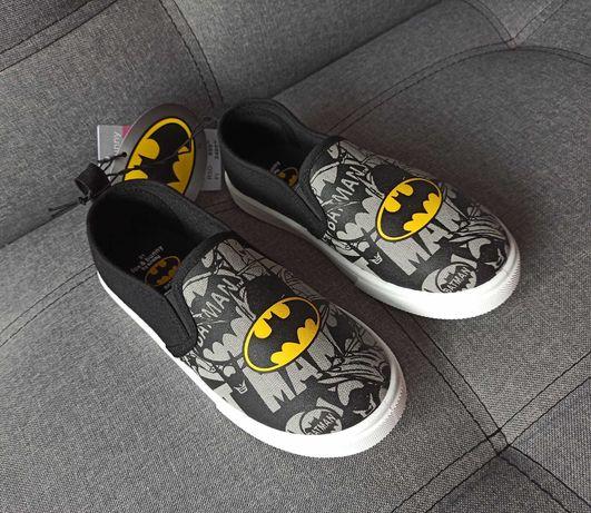 Слипоны Marvel Batman Бэтмен (кеды, мокасины, тапочки) на мальчика