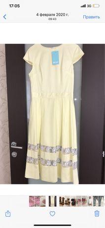 Новое платье, разм 38, маломерит
