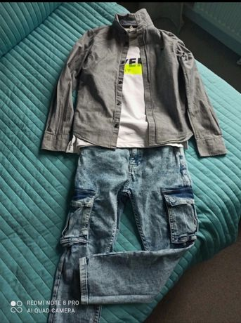 Zestaw ubrań dla chłopca roz. 134/140
