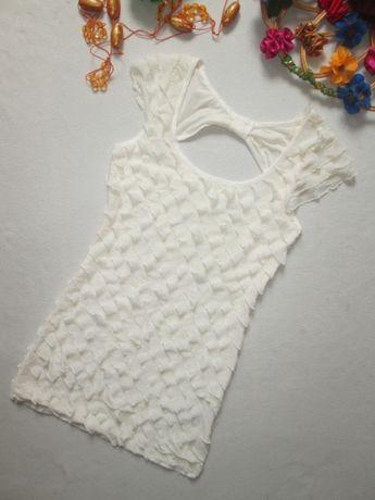 Шикарное подростковое короткое платье туника с рюшами плиссе new look