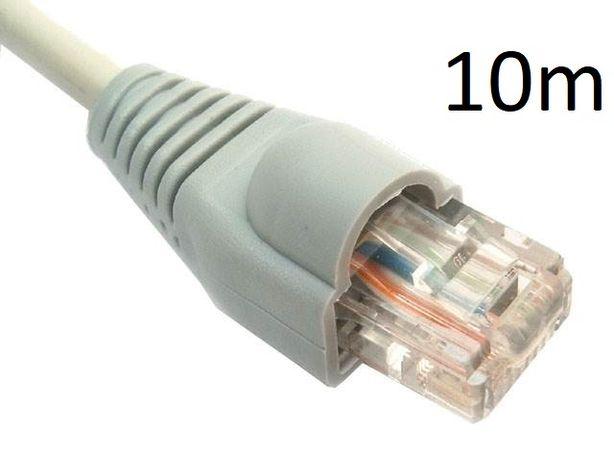 Kabel internetowy LAN Patchcord RJ-45 10m (gumki i wtyki)
