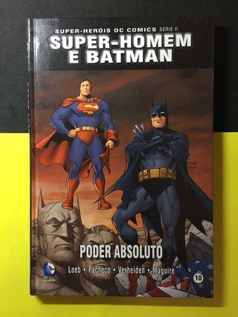 Super-Heróis DC Comics. Super-homem e Batman. Poder Absoluto
