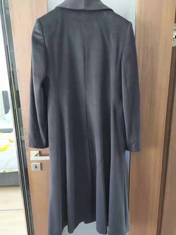Czarny płaszcz rozmiar 42, 100% wełna