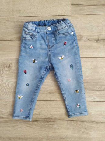 Spodnie H&M 86 Elastyczny Jeans