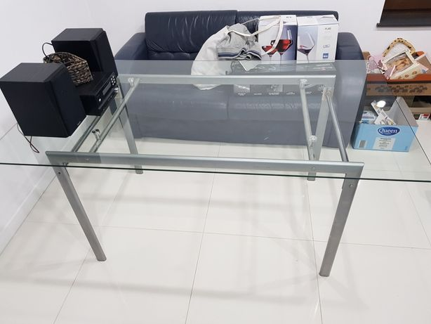 TYLKO DO PIĄTKU **Stół szklany 90x160 cm*ogrodowy*aluminium**TANIO**
