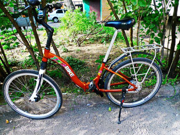 Женский велосипед на планетарной втулке известной нем. фирмы.Складдной