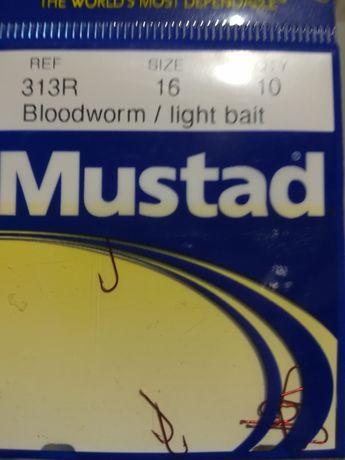 Mustad haczyki BLOOD WORM 313R .nr 16 i 18