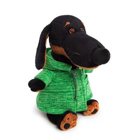 "Мягкая игрушка Budi Basa Собака Ваксон в зеленой куртке ""B&Co"", 25 см"