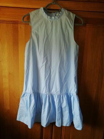 Blekitna trapezowa sukienka HM
