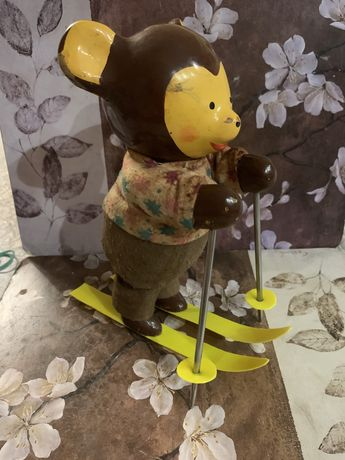 Игрушка ссср мишка опилки заводной
