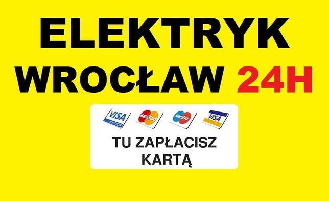 ELEKTRYK WROCŁAW 24h Awarie - Usługi od 49zł - Udzielam Gwarancję SEP