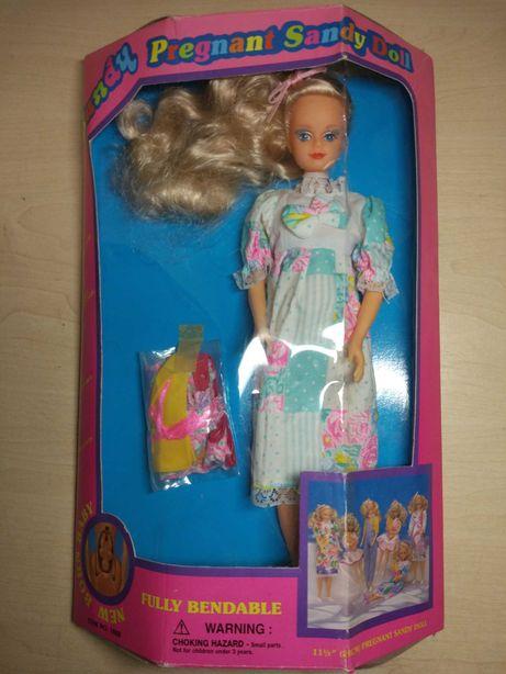 Кукла редкая Sandy беременная 90-х
