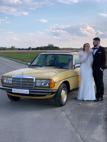 Auto do ślubu / zabytkowy Mercedes-benz w123 300D 1980r.  WYNAJEM