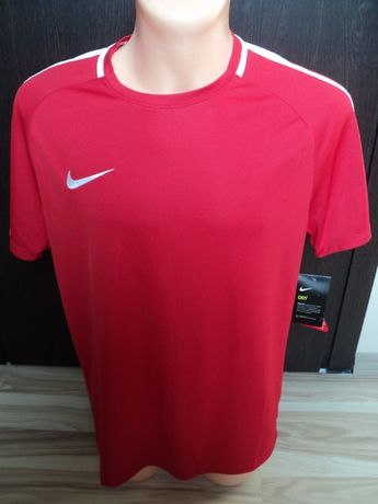 Nike męska koszulka biało-czerwona trening L Large Nowa