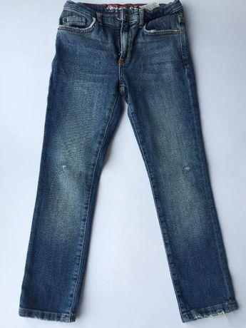 jeansy rurki ZARA 128 Kapitan Ameryka