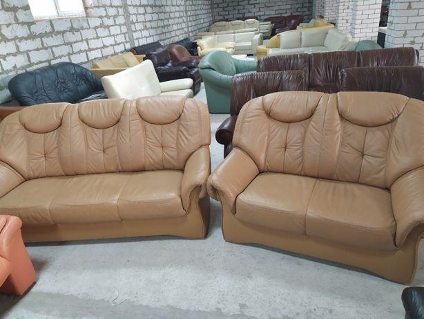 Кожаный гарнитур два дивана «Naturia» из Германии! (010821)