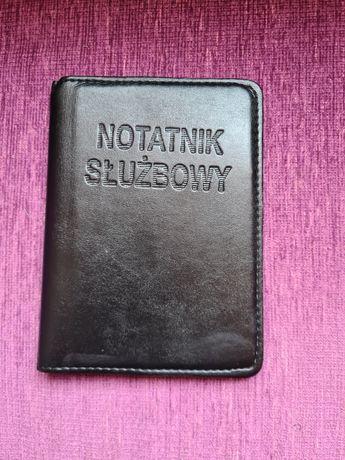 Notatnik służbowy skórzana okładka