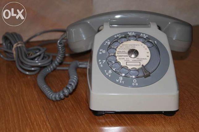 Telefone analógico cinzento – Modelo Francês