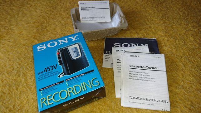Retro Dyktafon Sony TCM-453V Komplet