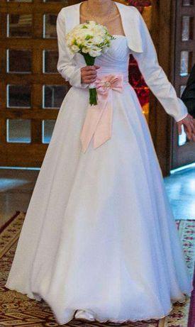 Suknia ślubna Bianka 36 z dodatkami
