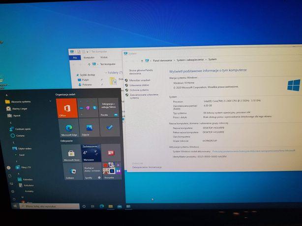 Komputer Pc do gier i e-lekcje Hp I5-2400 3.1Ghz 4rdzenie + monitor
