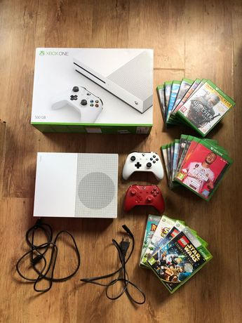 Konsola Xbox One S Komplet Pady + Gry + Kinect