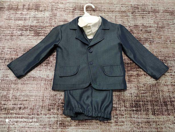Garnitur marynarka kamizelka spodnie 92 koszula