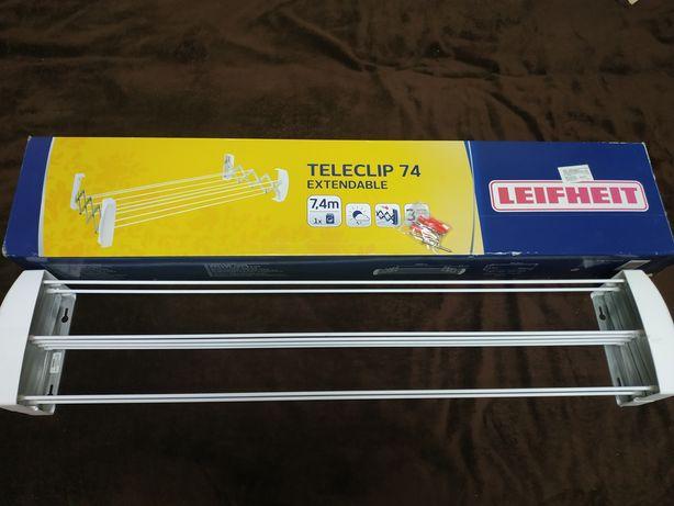 Настенная сушилка для белья Leifheit Teleclip