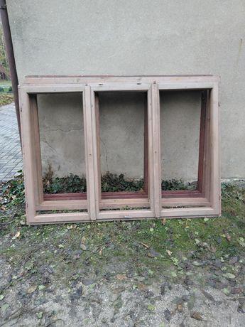 Okna drewniane bez szyb trzyskrzydłowe 198x145