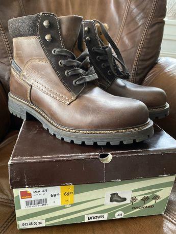 Naturalna skóra buty męskie skórzane rozm 44