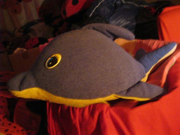 игрушка мягкая дельфин большая синяя рыба