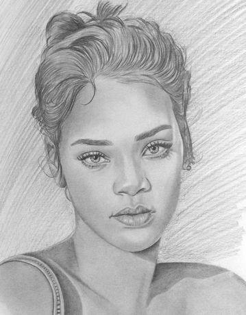 Desenhos e pinturas de retratos