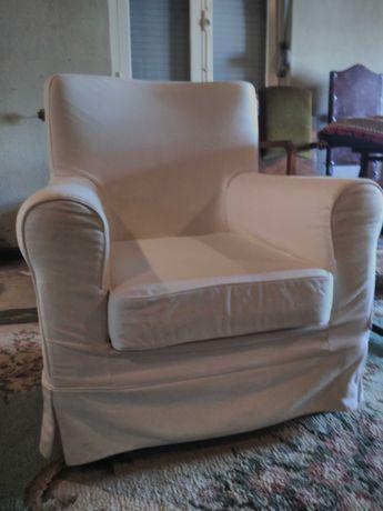 Poltrona / Sofá com Capa em Tecido Ikea - COMO NOVA