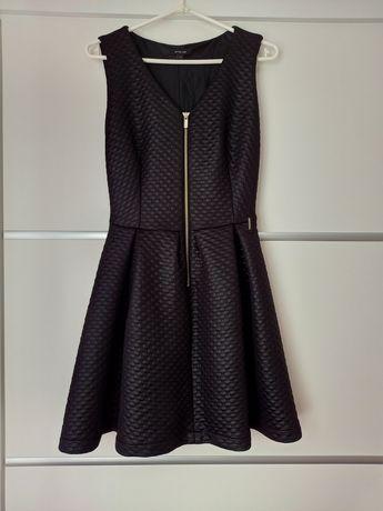 Krótka czarna rozkloszowana sukienka, Ette Lou XS