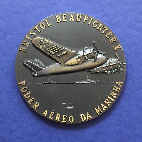 medalha Esquadrilha B das Forças Aéreas da Armada - 80mm