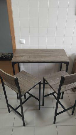 Mesa alta cozinha 2 cadeiras
