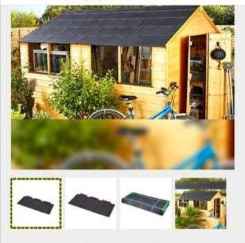 Pack de telhas de plástico
