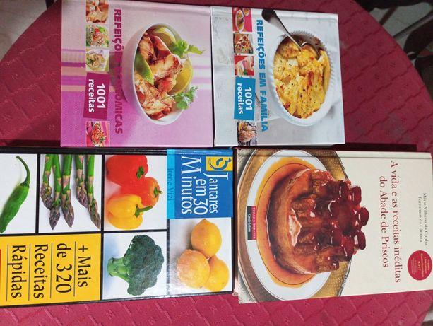 Conjunto livros de cozinha