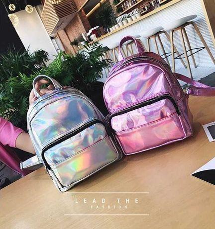 Детский блестящий рюкзак рюкзачок отражающий яркий для ребенка девочки