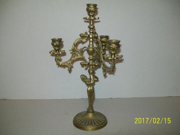 świecznik mosiężny na cztery świeczki nr 3