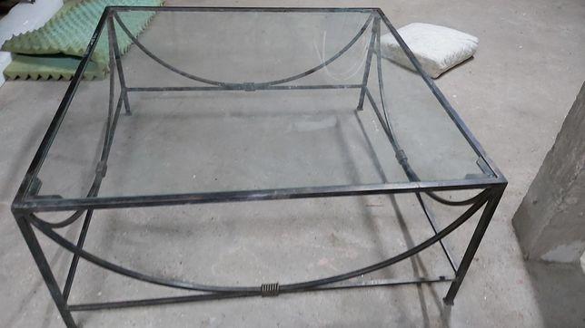 Mesa de centro ferro e vidro