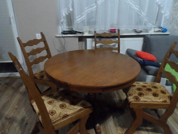 Stół okrągły drewniany rozkładany