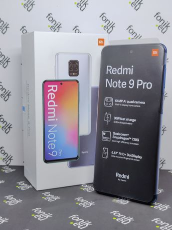 Xiaomi Redmi Note 9 PRO 6/64GB Interstellar Grey • NOWY • Fonik.eu