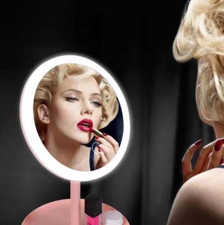Зеркало с Led подсветкой и аккумулятором для макияжа косметическое