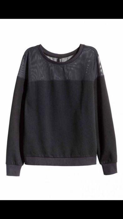 Czarna bluza z siatką siateczką H&M S Zara Kraków - image 1