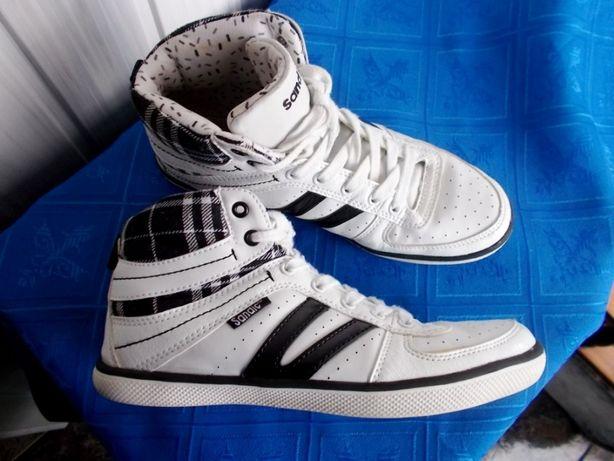 R. 39 Sandic białe czarne adidasy damskie air sneakersy jak nowe 25,5