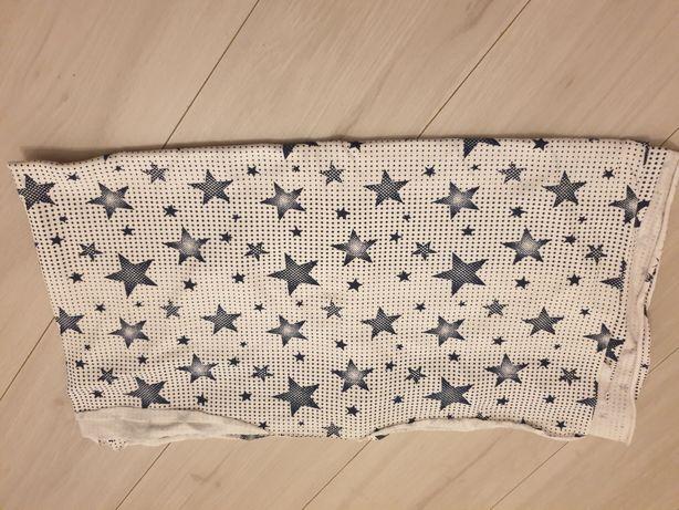 dresówka niebieskie gwiazdki na białym tle