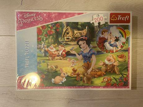 Puzzle Disney Princess 200, 7+, NOWE, Trefl