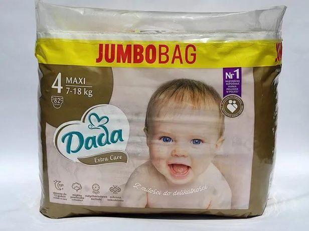 Подгузники Dada Extra Care Jumbo Bag Размер 4 Maxi, 7-18 кг, 82 шт