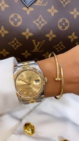 Zegarek rolex  Datejust 36 mm , brylanty , pełen komplet